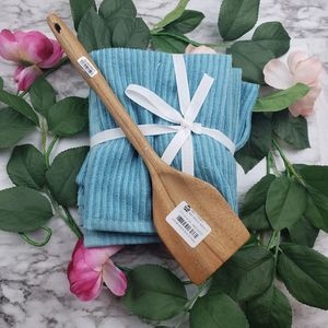 Kitchen Towel and Wooden Turner